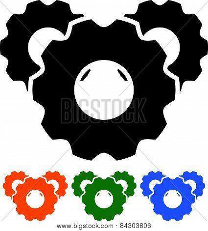 Cogwheel Silhouettes