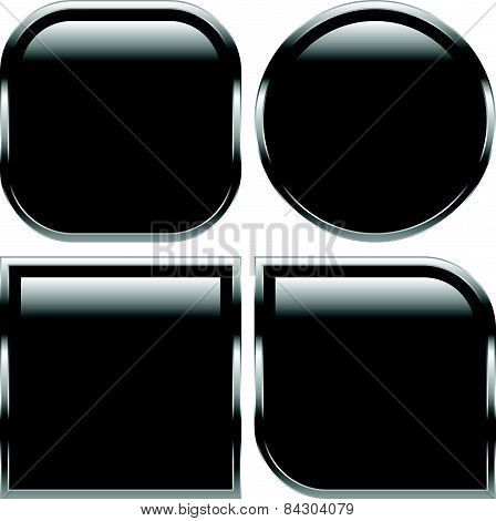 Glossy Black Shapes