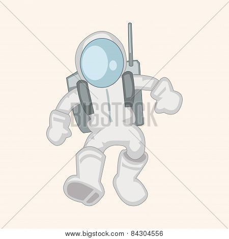 Space Astronaut Theme Elements Vector, Eps10
