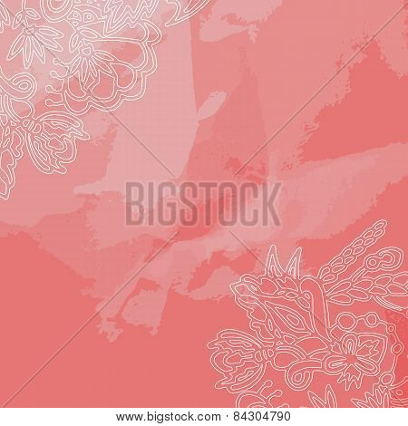 Decorative Ornament Frame On Pink