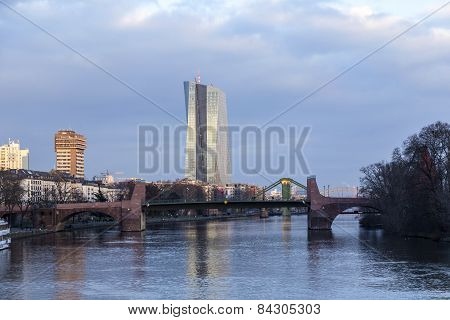 The New Seat Of The European Central Bank In Frankfurt