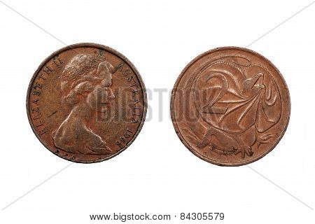 Two Cents coin from Australia dated 1966