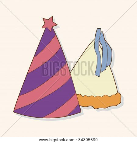 Birthday Hat Theme Elements Vector,eps