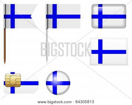 Finland Flag Set
