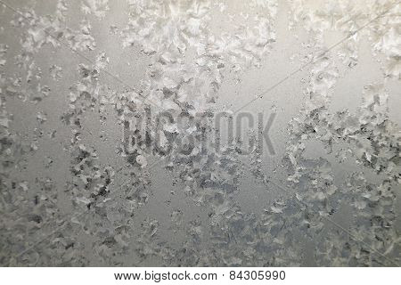 Abstract Texture, Pattern Frost On The Window