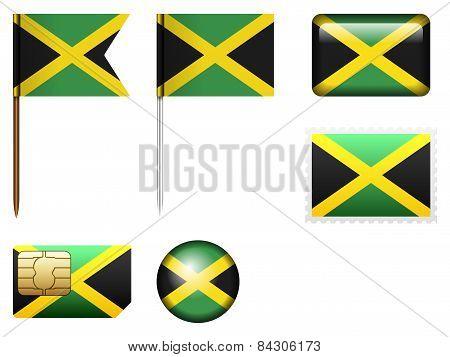 Jamaica Flag Set
