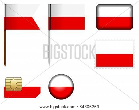 Poland Flag Set