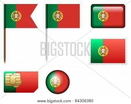 Portugal Flag Set
