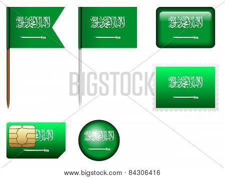 Saudi Arabia Flag Set