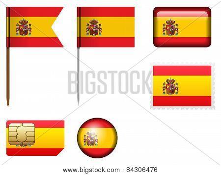 Spain Flag Set