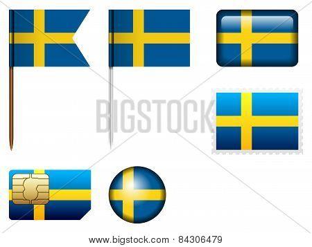 Sweden Flag Set