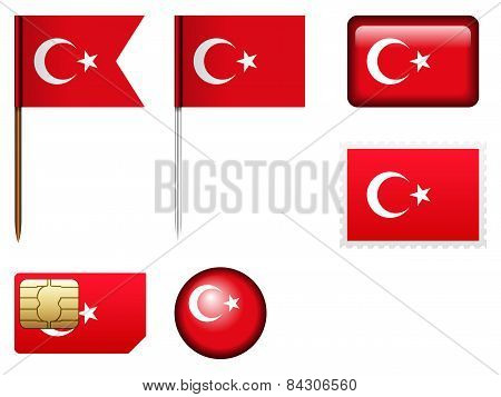 Turkey Flag Set