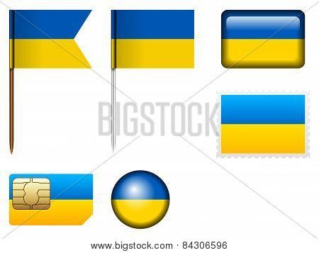 Ukraine Flag Set