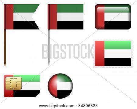 United Arab Emirates Flag Set
