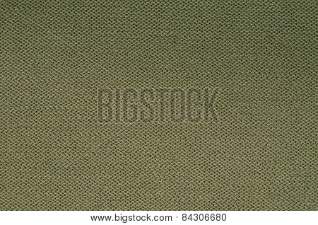 Green Knitted Background Pattern, Detail