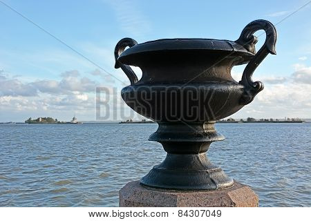 Big Vase At The Embankment Of The Kronshtadt City