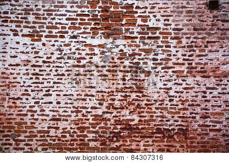 Ancient Brick Wall. Picture Can Be Used As A Background