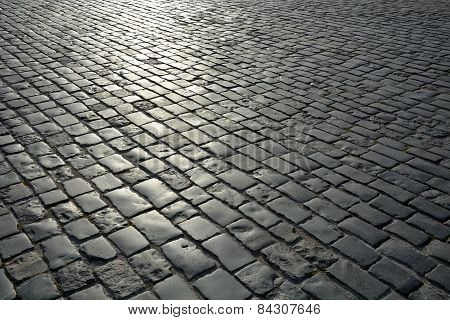 Old Gray Pavement. Picture Can Be Used As A Background