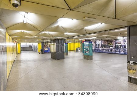 Metro Station For S And U-bahn Eschenheimer Tor In Frankfurt, Germany