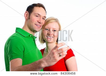 Young Couple Take Self-portrait