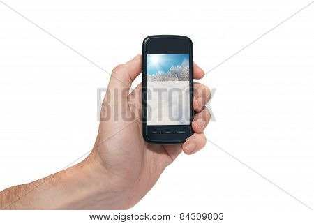 Mobile Phone In The Hand
