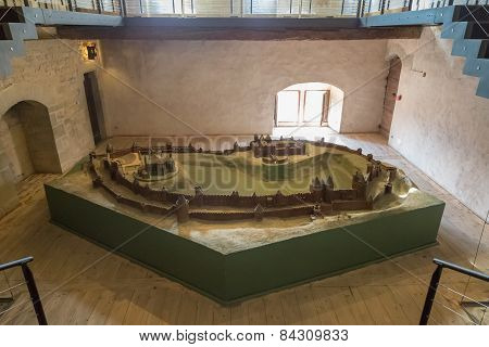 Scale Model Of The Cite De Carcassonne