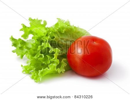 Tomatoes with lettuce