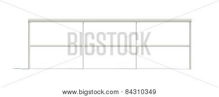 Three-dimensional white railing