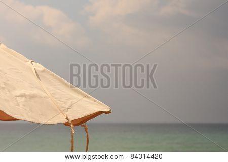 Beach umbrella.