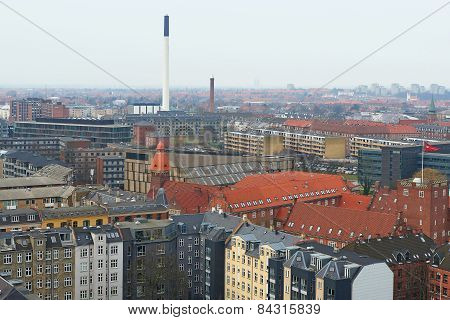 Danish City Frederiksberg seen from above