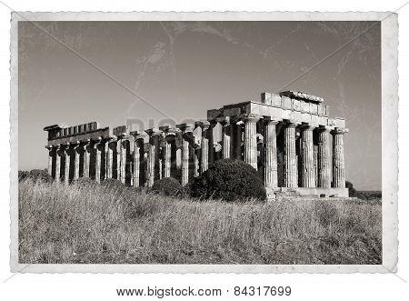 Greek Temple Vintage Photo