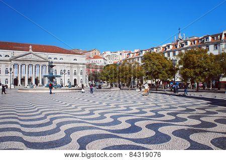 Rossio Square of Lisbon