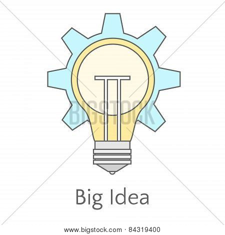 Flat Illustration Of Big Idea