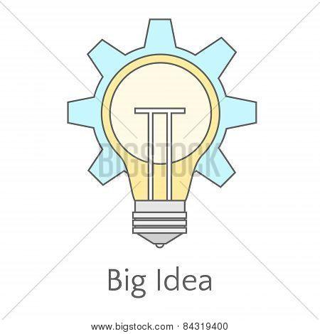 Flat Illustration Of Big Idea