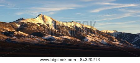 Mountain Range Surrounds Great Basin National Park Nevada