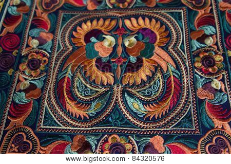Richly embroidered cloth