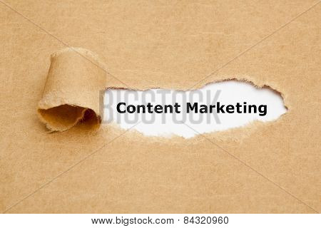 Content Marketing Torn Paper Concept