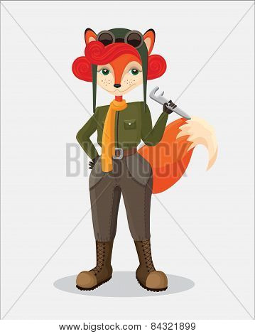 military fox-pilot that taking the wrench