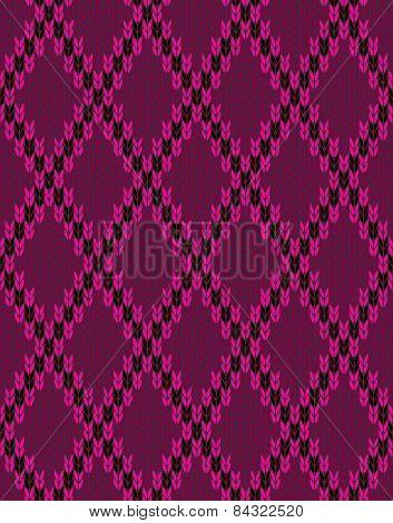 Style Knit Woolen Seamless Jacquard Ornament Texture