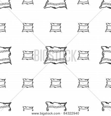White pillow vector background