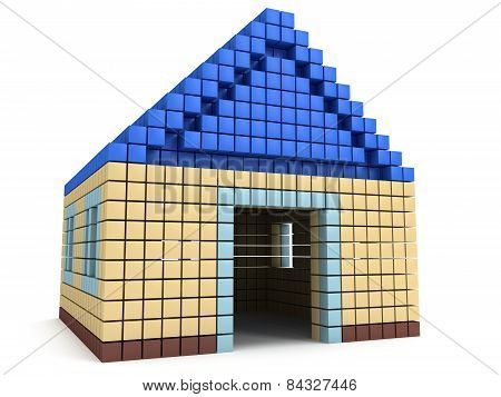 House Made By Cube Blocks