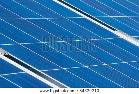 Close-up Of Solar Panel Pattern