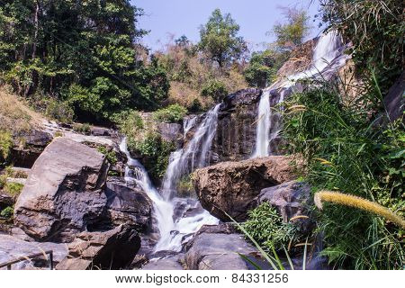 Mae Klang Waterfall In Doi Inthanon, Chiang Mai Province Thailand