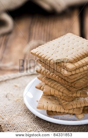 Stacked Butter Biscuits