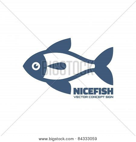 Nicefish - vector logo concept. Fish vector illustration. Vector logo template. Design element.