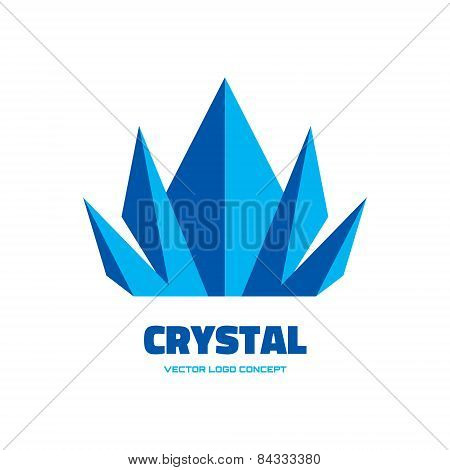 Crystal - vector logo concept illustration. Abstract vector logo. Vector logo template.