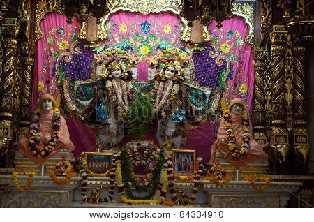 Deities In Sri Krishna-balaram Temple