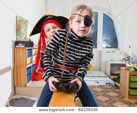 Children Play Pirates