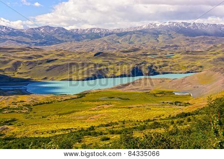 Alpine Lake In The Patagonian Highlands