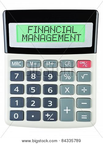 Calculator With Financial Management